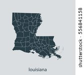 map of louisiana | Shutterstock .eps vector #556841158