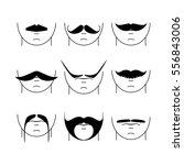 big set of vector hipster... | Shutterstock .eps vector #556843006