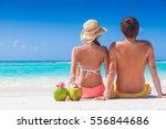 picture of fresh coconut juice... | Shutterstock . vector #556844686