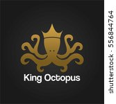 gold king octopus unique...   Shutterstock .eps vector #556844764