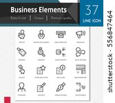 business elements vector icons... | Shutterstock .eps vector #556847464