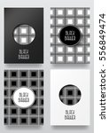 black and white card. set of... | Shutterstock .eps vector #556849474