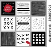 template  banners. vector brush ... | Shutterstock .eps vector #556850503