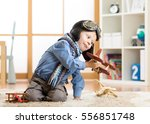 children dreams concept.... | Shutterstock . vector #556851748