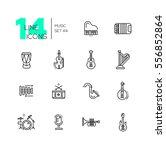 musical instruments   modern... | Shutterstock .eps vector #556852864