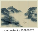 chinese ink landscape painting | Shutterstock . vector #556853578