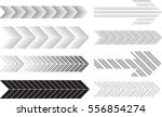 sideways set . linear signs... | Shutterstock .eps vector #556854274