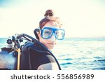 Portrait Of A Young Girl Diver...