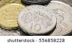 Singapore Ten Cents Coin With...
