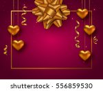 valentines day background with... | Shutterstock .eps vector #556859530