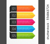 five steps horizontal colorful... | Shutterstock .eps vector #556863724
