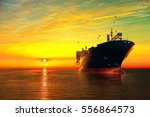 Oil Tanker Ship At Sea On A...
