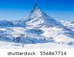 matterhorn is a mountain in the ... | Shutterstock . vector #556867714