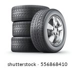 set of wheels with alloy rims... | Shutterstock . vector #556868410