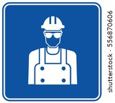 engineer icon design clean... | Shutterstock .eps vector #556870606