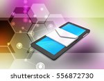 3d illustration of tablet... | Shutterstock . vector #556872730