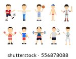 isolated sport set on white... | Shutterstock . vector #556878088