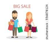 big sale concept. isolated... | Shutterstock . vector #556878124