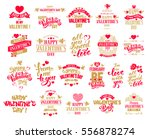 happy valentines day typography ... | Shutterstock .eps vector #556878274
