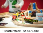 Children Play With Wooden Toy...