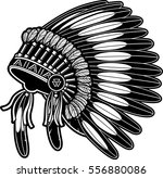 native american eagle | Shutterstock .eps vector #556880086