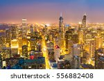 aerial view of downtown towers... | Shutterstock . vector #556882408