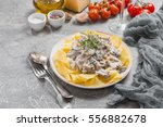 Fresh Tagliatelle Pasta With...