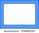 frame blue mosaic  bright color ...   Shutterstock . vector #556883104