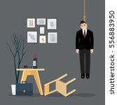 businessman hang himself in his ...   Shutterstock .eps vector #556883950