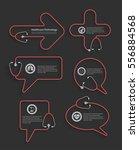 red stethoscope in shape of... | Shutterstock .eps vector #556884568