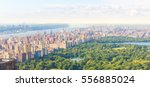 new york central park aerial... | Shutterstock . vector #556885024