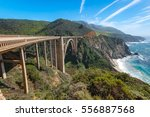 bixby bridge  the famous bridge ... | Shutterstock . vector #556887568