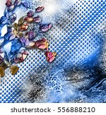 floral and geometric  | Shutterstock . vector #556888210