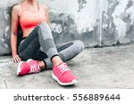 fitness sport woman in fashion... | Shutterstock . vector #556889644