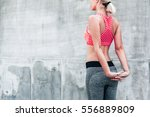 fitness sport woman in fashion... | Shutterstock . vector #556889809
