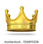 gold crown only on white...   Shutterstock . vector #556893328