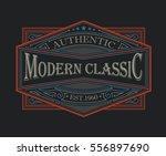 antique frame vintage border... | Shutterstock .eps vector #556897690