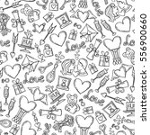 vector pattern with hand drawn... | Shutterstock .eps vector #556900660