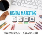 digital marketing  business... | Shutterstock . vector #556901050