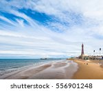 the blackpool tower on the... | Shutterstock . vector #556901248