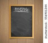 menu. wooden frame with an... | Shutterstock .eps vector #556901344