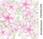 seamless pattern with flowers... | Shutterstock .eps vector #556902190