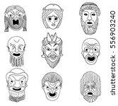 outline greek masks | Shutterstock .eps vector #556903240