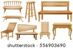 different designs of wooden... | Shutterstock .eps vector #556903690