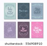 collection of romantic and love ... | Shutterstock .eps vector #556908910