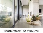 villa interior with cement... | Shutterstock . vector #556909393