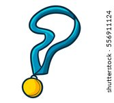 gold medal with blue rope in... | Shutterstock .eps vector #556911124