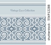 vintage frame with tatting lace ... | Shutterstock .eps vector #556912288