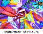 photo silk fabric. silk scarf... | Shutterstock . vector #556915276