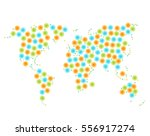 vector multicolor stylized map. ... | Shutterstock .eps vector #556917274